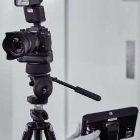 Fujifilm Shoe Mount Flash EF-X500 mounted on a pre-production X-T2 with Vertical Power Boost Grip VPB-XT2. Monitor/recorder mounted on the tripod but not connected to the camera. I am looking forward to trying out the X-T2's apparently amazing 4K video in conjunction with Fujifilm's beautiful film simulations.