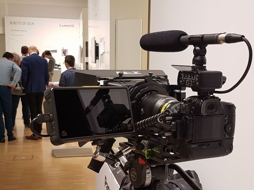UK Lumix Luminary Nick Driftwood's anamorphic moviemaking rig. Panasonic's Lumix GH5 is suitable for tripod-mounted big rig moviemaking as well as mobile handheld video cinematography.