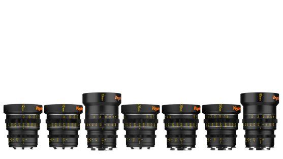 The current Veydra Mini Prime cinema lens lineup, from 12mm through to 85mm all at a maximum aperture of T2.2.