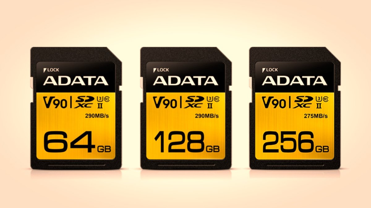 ADATA Releases Superfast Premier ONE UHS-II Class 10 (U3) V90 SDXC Memory Cards for High-End Moviemaking