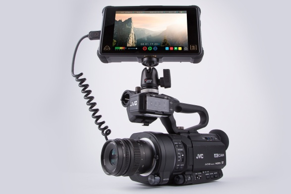 JVC GY-LS300 4K camcorder with Atomos Ninja Inferno monitor/recorder