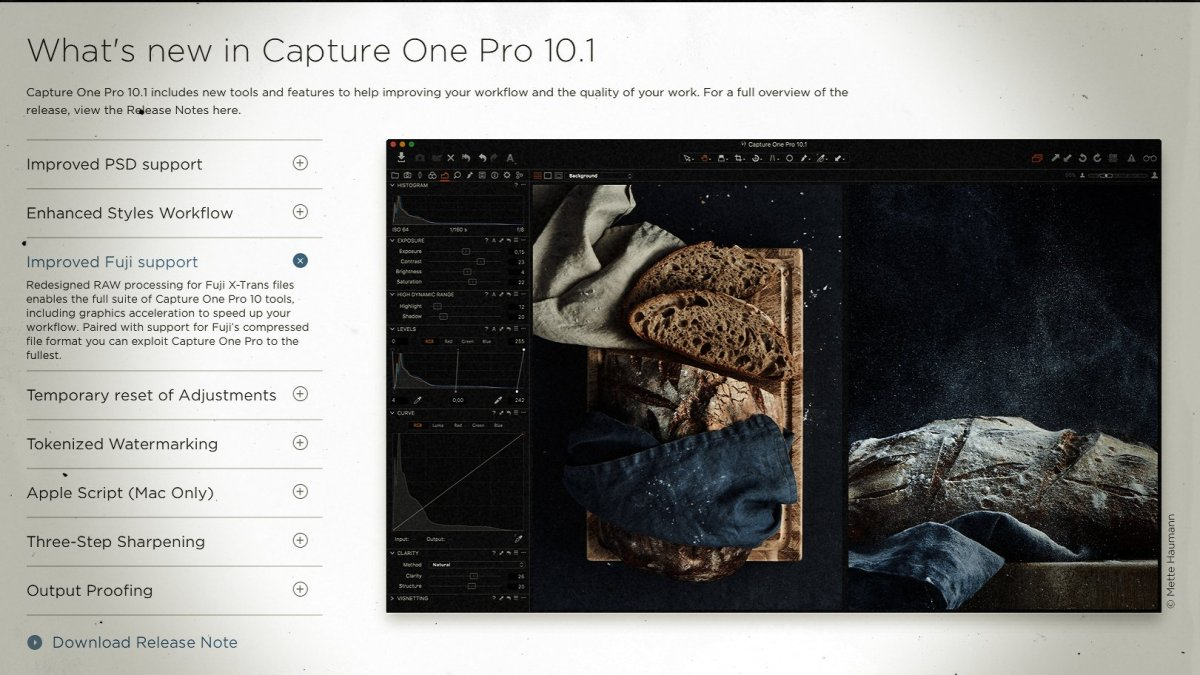 Capture One Pro 10.1 Update Improves Fujifilm X-Trans Support, Enhances Styles Workflow, and More