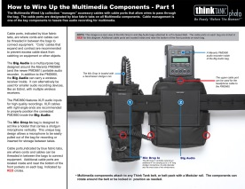 I still use many of the component belt bags in the Multimedia Wired Up belt bag system to supplement bags and backpacks made by other manufacturers.