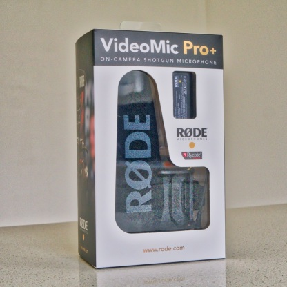 The VideoMic Pro+ blister pack fresh out of the shipping box.