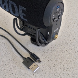 A much-requested feature on new digital cameras is the ability to recharge the batteries through a USB cable, without having to remove the batteries to recharge them in external battery chargers connected to mains power. Great to see Røde has also listened to such user requests. This included Micro USB cable can recharge the mic's battery from a computer or a small, portable recharger unit like the ones provided with mobile phones and other devices.