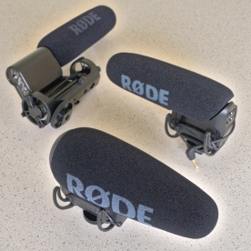 Three models of Røde VideoMic, VideoMic Pro and now VideoMic Pro+ (skipping the non-Rycote original VideoMic Pro). The Røde VideoMic on-camera shotgun microphone concept has come a long way.