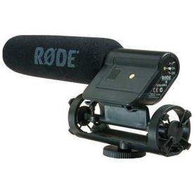 The original Røde VideoMic Image from the Adorama website, straight out of the box without the hotshoe mount being moved to the rear of the shockmount as I did when I bought mine.