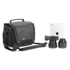 Think Tank Photo Spectral 8 shoulder bag with Fujifilm camera and lenses.