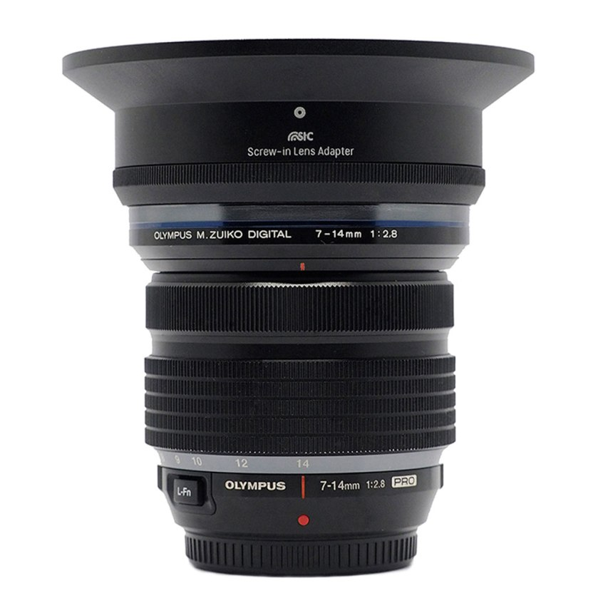 Screw-in lens adapter for Olympus 7-14mm f/2.8 Pro by STC Optical & Chemical