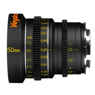 Veydra 50mm T2.2 Mini Prime, equivalent to 75mm when used on a Fujifilm or Sony APS-C camera.
