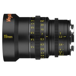 Veydra Mini Prime 19mm cinema lens available in Sony E-Mount, Micro Four Thirds mount and Fujifilm X-Mount.