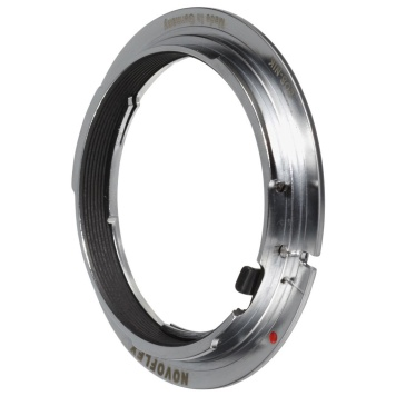 Lens adapters are worth considering for use with manual lenses that may be available in a limited range of lens mounts. Illustrated, a Novoflex Nikon F lens to Canon EOS EF-Mount camera body adapter.