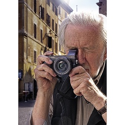 Photojournalist Ian Berry of Magnum Photos using Panasonic Lumix DMC-GX7.