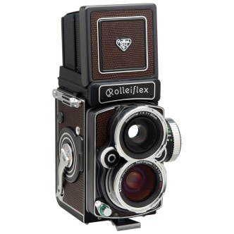 Rolleiflex 4.0 FW Medium Format Twin Lens Reflex Camera with Built-in Schneider Kreuznach Super-Angulon 50mm f/4 HFT lens, now no longer in production.