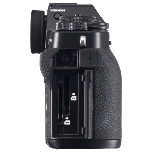 Fujifilm X-T3: two SD card slots and remote port for remote release cables, no longer requiring doubling up on remote and microphone into the same port with the need to switch via the menu.