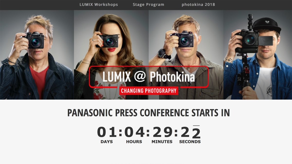 photokina 2018: Panasonic Lumix Schedules and Information