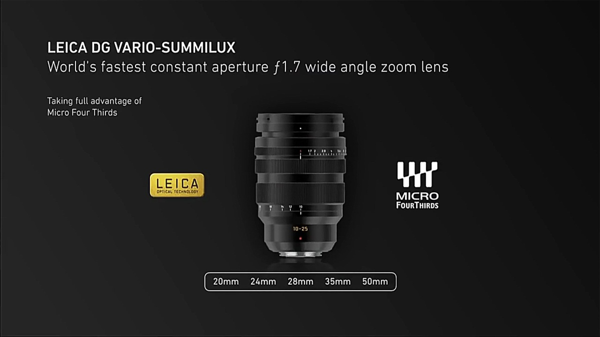 Panasonic Leica DG Vario-Summilux 10-25mm f/1.7 Wide Angle Zoom Lens, Heir to Leica's Tri-Elmar-M MATE and WATE Prime-Quality Stepped Zooms