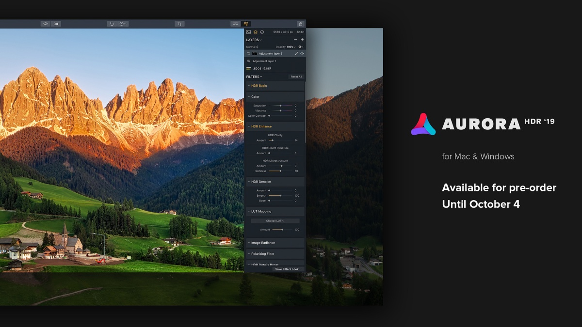 The Best HDR Image Editor There is, Skylum's Aurora HDR 2019, is Available for Pre-Order until October 4, with Discounts