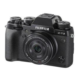 Fujifilm X-T2 with Fujinon XF 27mm f/2.8 pancake prime lens.