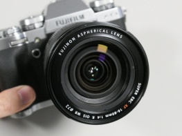 Fujifilm Fujinon XF 16-80mm f/4.0 R OIS WR zoom lens, pre-release.
