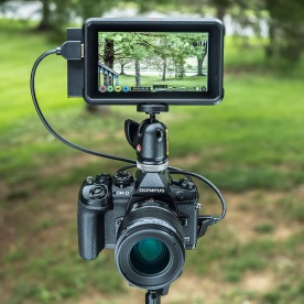 Olympus OM-D E-M1 Mark III with Atomos Ninja V 5-inch monitor/recorder.