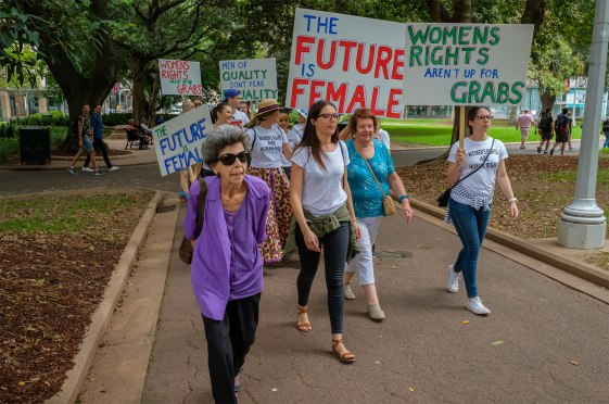 Women's March Sydney at Hyde Park in Sydney on January 20, 2019
