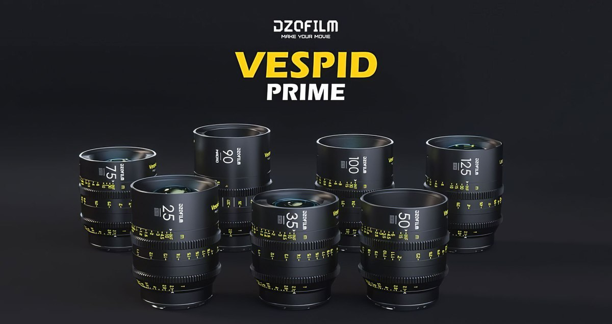 DZOFilm Adds Vespid PL-Mount Cinema Prime Lenses to its Affordable Pictor Parfocal Cinema Zoom Lens Range, Plus Octopus PL to E, L, RF and X-MountAdapters